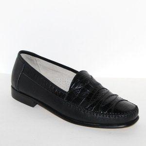 Stacy Adams genuine snake shoes black Men 10